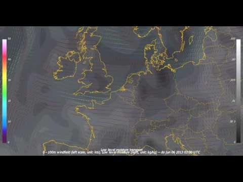 moisture transport GFS forecast