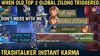 OLD TOP 2 GLOBAL ZILONG IN RANK | TRASHTALKER INSTANT KARMA | NEW BUILD | MOBILE LEGENDS