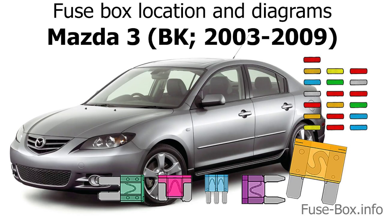 medium resolution of fuse box location and diagrams mazda 3 bk 2003 2009 youtube 2003 mazda 3 interior fuse box diagram 2003 mazda 3 fuse box