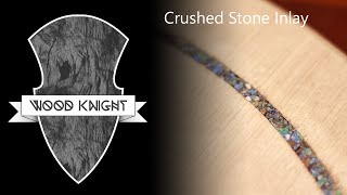024 - Crushed stone (Azurite) inlay on a tabletop
