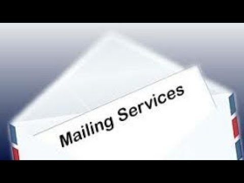 Mailing Service - Types of Services