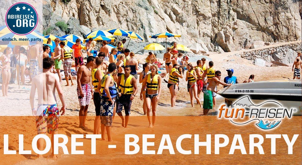 fun reisen lloret de mar beachparty youtube. Black Bedroom Furniture Sets. Home Design Ideas