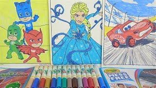 Pijamaskeliler boyama Crayola Color Wonder Lekesiz Boyama Frozen Elsa boyama Arabalar sihirli boyama