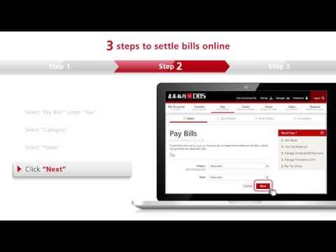 Online demo - Settling bills via DBS iBanking/ DBS mBanking
