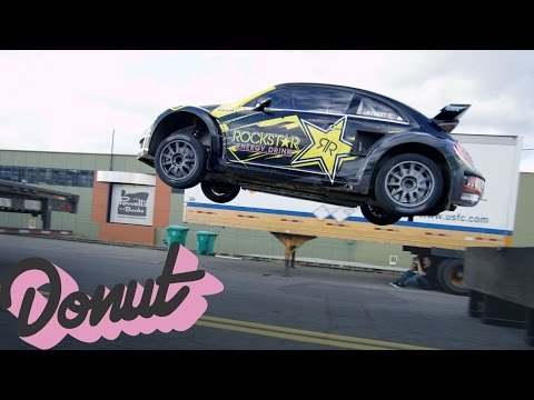 Jumping a Rally Car w/Tanner Foust in Portland, OR | Donut Media