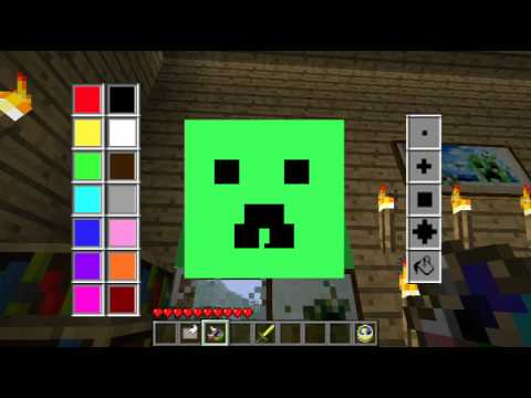 Minecraft Mods - ART of PAINTING Mod! Draw & Paint your ...