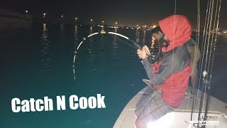Catching Dinner & Hooking MONSTER Fish {Catch N Cook}