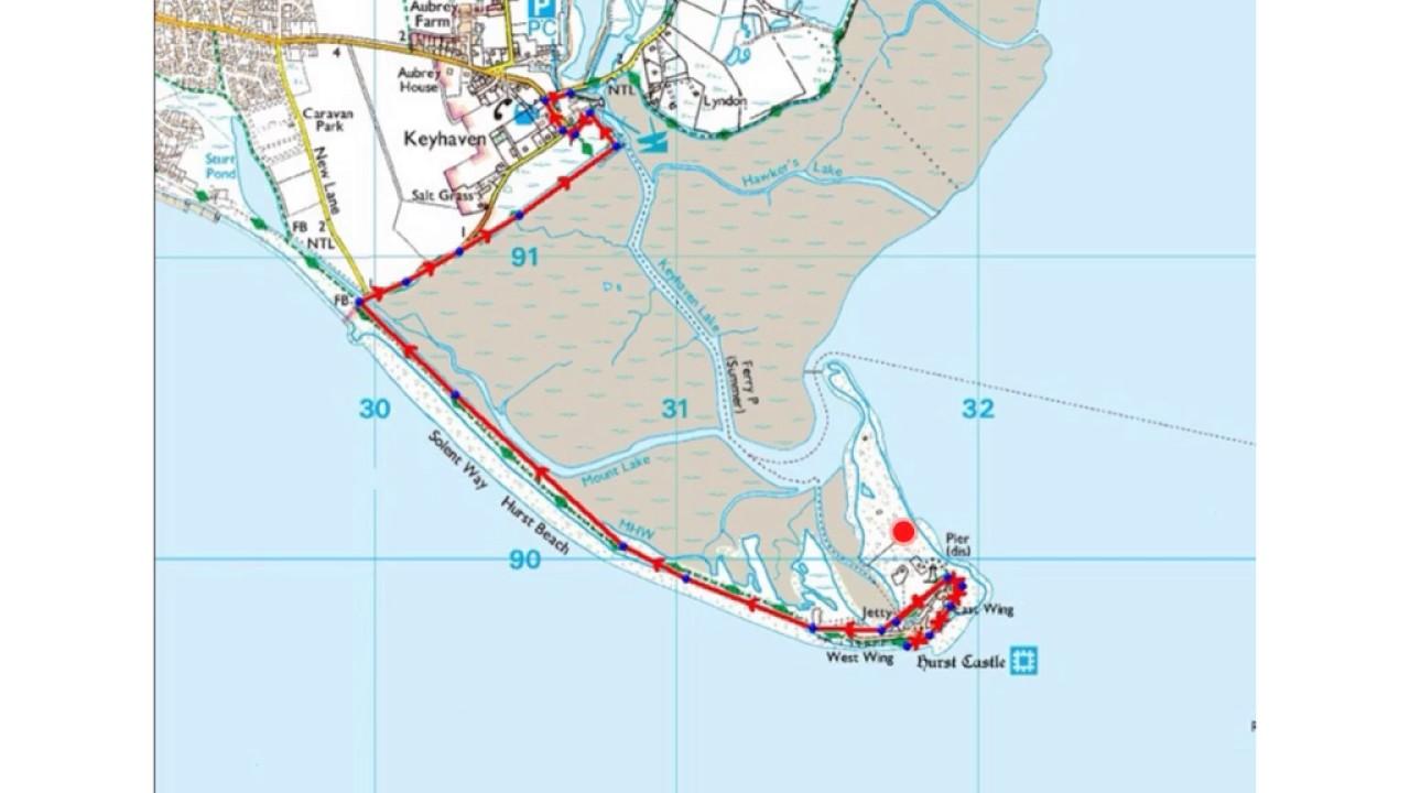 Coastal features on OS maps