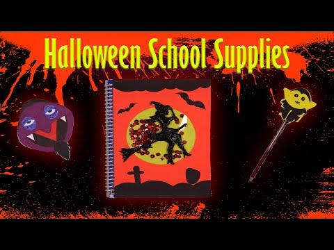 DIY HALLOWEEN SCHOOL SUPPLIES