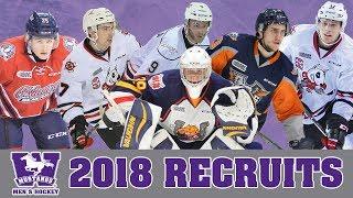 Western Mustangs Men's Hockey - 2018 Recruiting Class