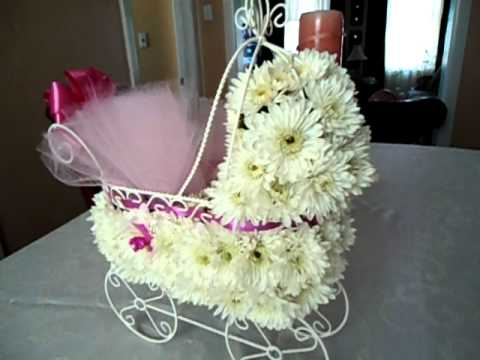 Baby Shower Floral Centerpiece Youtube