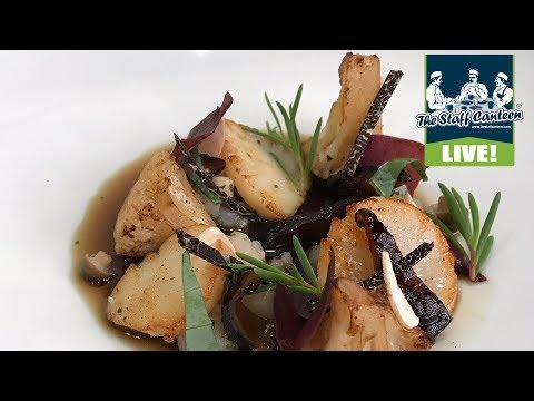 Michelin star chefs Ashley Palmer-Watts and Jonny Glass cook a sherried scallops recipe