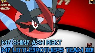 Roblox Pokemon Brick bronze [Shiny Ash-Greninja rekt my littlebrother xD!] #SingleBattle Part79