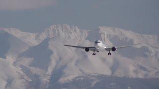 """日本とは思えない美しい着陸風景 """"The Beautiful Landing Scean"""" Jal (Japan Airlines) Boeing 767-346/Er Ja658j"""