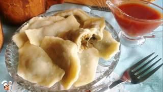 Постное блюдо из картофеля и грибов - вареники. Постная еда в пост