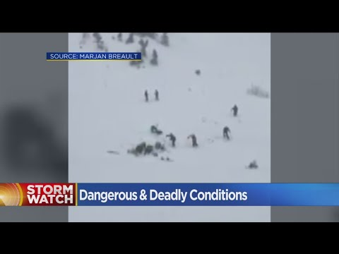 Squaw Valley Avalanche Traps Skiers, Snowboarders