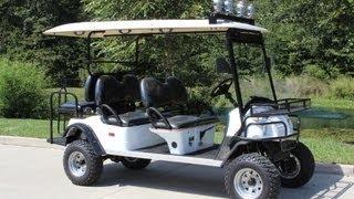 Lifted Street Legal Golf Cart 6pr from citEcar - Built in USA