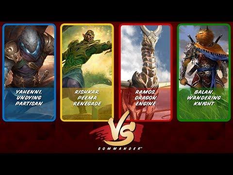 Commander VS S10E1: Yahenni vs Rishkar vs Ramos vs Balan