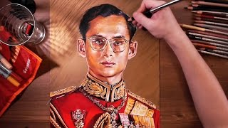 Drawing Bhumibol Adulyadej (Rama IX, the Great) | drawholic
