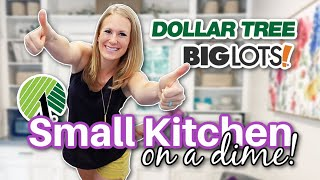 *NEW* ORGANIZE A SMĄLL KITCHEN FAST (Dollar Tree and Big Lots secrets...easy peasy!)