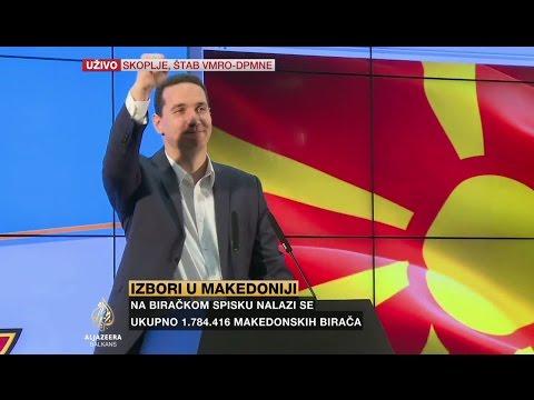 Proglašenje pobjede u štabu VMRO-DPMNE-a