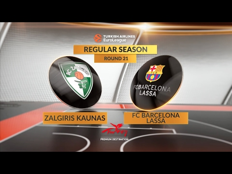 Highlights: Zalgiris Kaunas-FC Barcelona Lassa