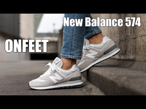 uk availability d3a4b 65856 ONFEET New Balance 574 Classic Beige (WL574EW) Review - YouTube