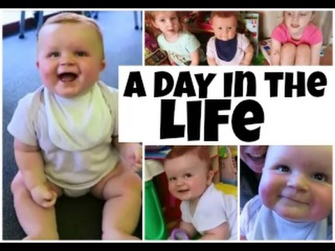 A DAY IN THE LIFE with a BABY on a SCHOOL...