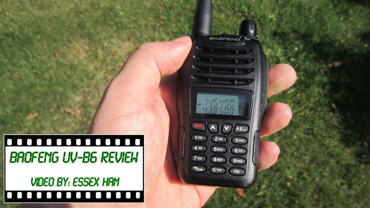 Baofeng UV-B6 Handheld Radio Review | Essex Ham