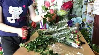 Как собрать букет цветов из кустовых роз своими руками