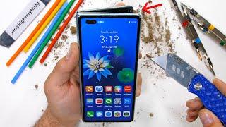 a $3,000 dollar folding phone?! - Huawei Mate X2 Durability Test!