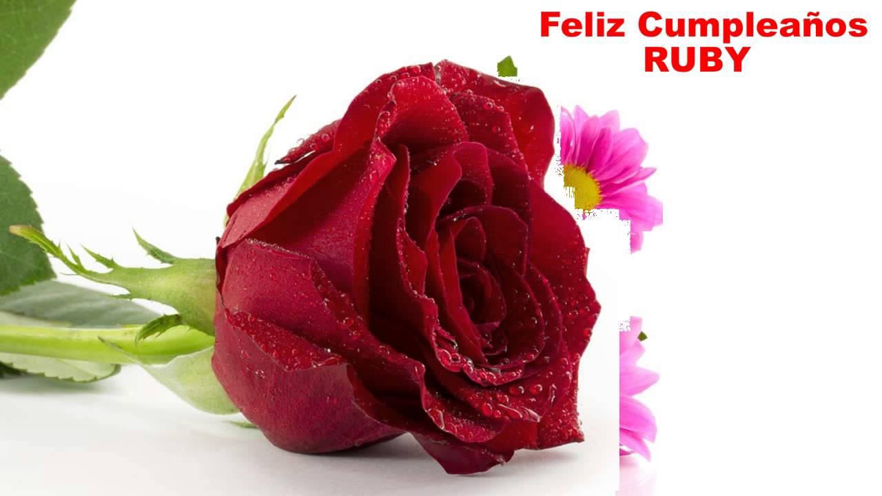 Ruby Flowers Happy Birthday Youtube