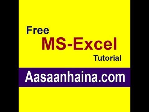 microsoft excel tutorials  free