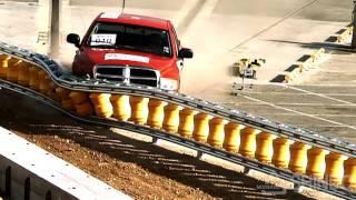 rolling barrier system rolling guardrail mash tl3 tl4 pickup truck test