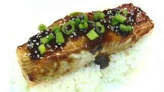 Salmon Teriyaki! How To Make Homemade Teriyaki Sauce!