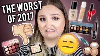 WORST BEAUTY PRODUCTS OF 2017 | LEAST FAVORITE MAKEUP THIS YEAR
