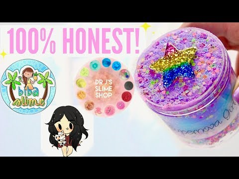 100% HONEST OVERRATED + Underrated Instagram Slime Shop Review! US Slime Package Unboxing