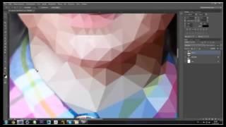 Как создать оригами (полигональный) портрет Low Poly