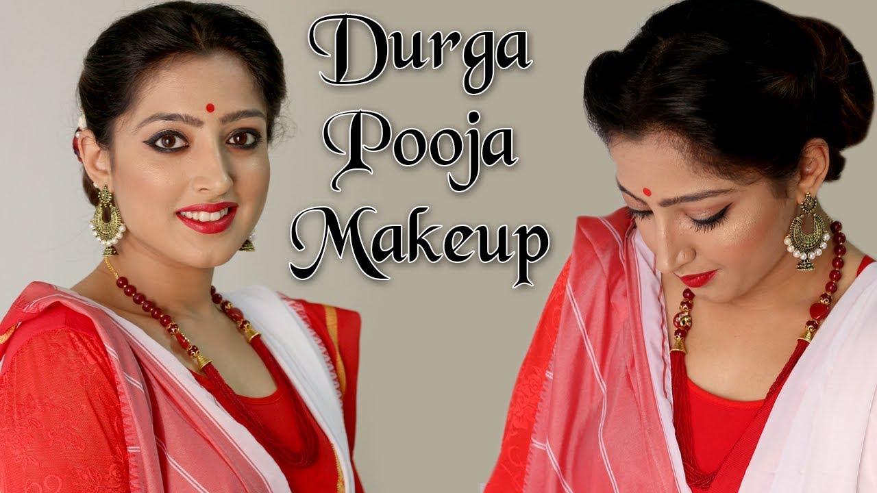 Makeup for Durga Puja (Hindi)