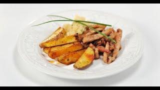 Свинина и картофель с соусом из яблок | Дежурный по кухне