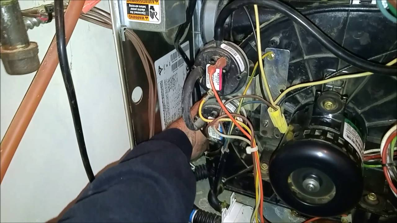 Carrier 58MTB Plugged secondary heat exchanger - YouTube