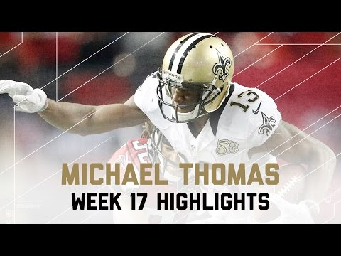 Michael Thomas 10 Catches for 156 Yards! | Saints vs. Falcons | NFL Week 17 Player Highlights
