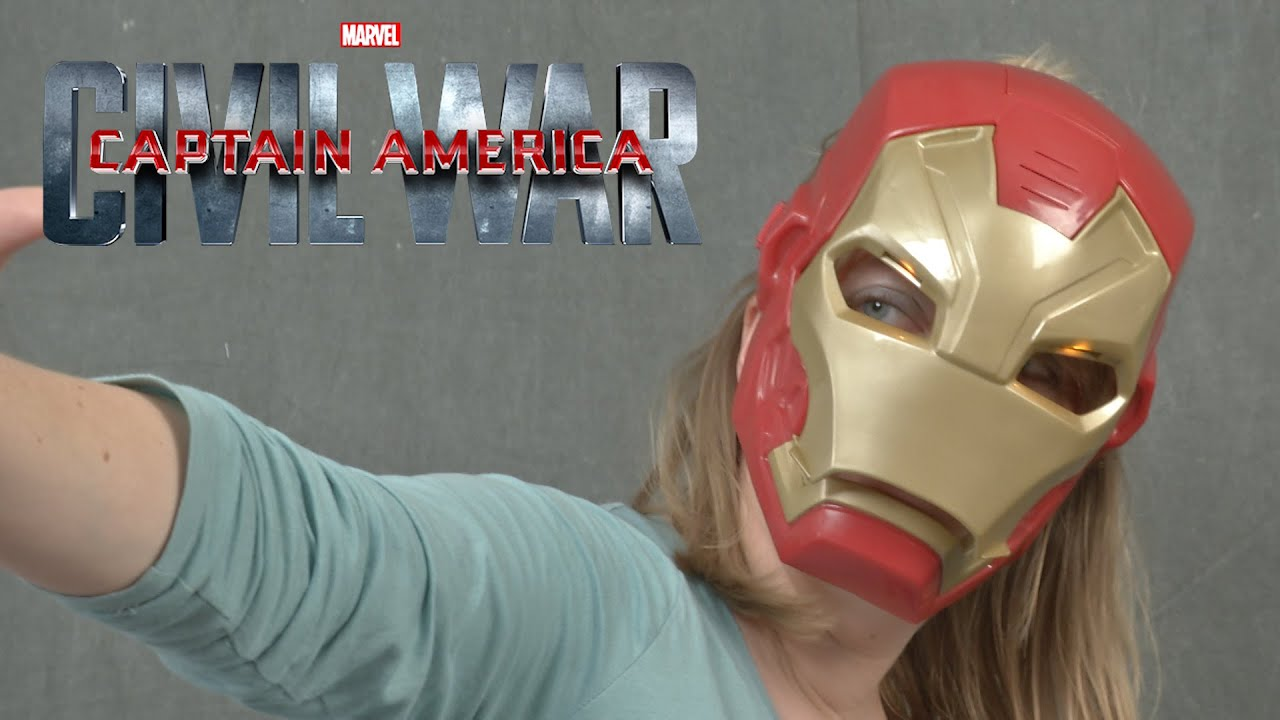 Iron Man Tech FX Mask Captain America Civil War Marvel Eyes light up electronic