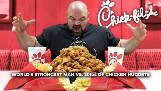 EATING 20LBS OF CHICK-FIL-A NUGGETS!