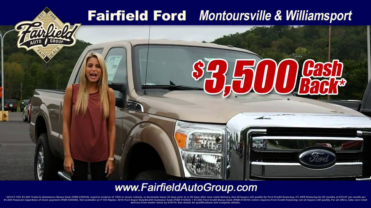 Fairfield Ford Montoursville And Williamsport Youtube