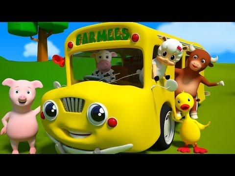 Las ruedas del autobús | Y muchas más canciones infantiles | Farmees