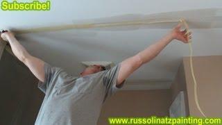 DIY - Repair Cracks in the Ceiling by Removing Old Drywall Tape (Part 3) - Drywall Repair