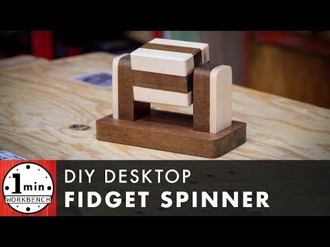 Wooden Desktop Fidget Spinner DIY
