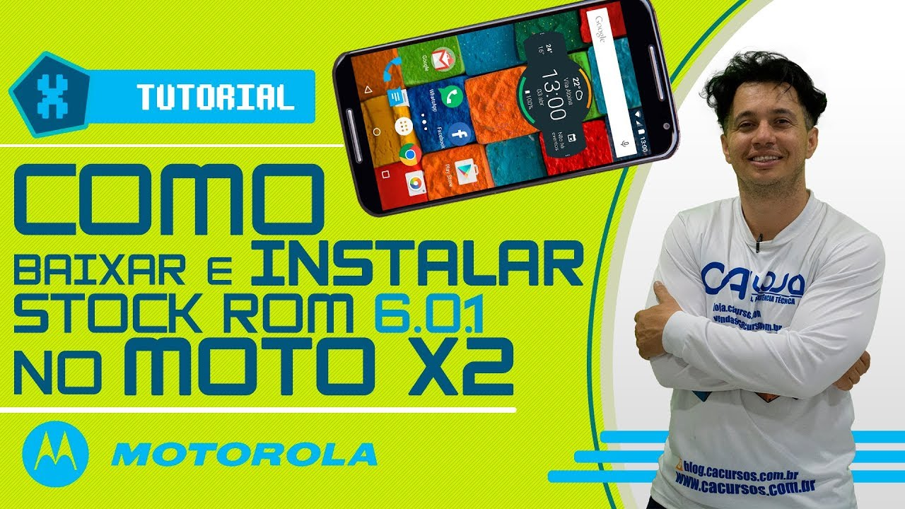 Como baixar e instalar Stock rom 6 0 1 no Moto X2 (XT1097