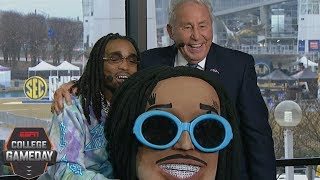 Lee Corso 'Head Gear Pick': Alabama vs. Georgia and more with Quavo | College GameDay